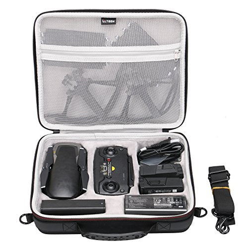LTGEM EVA Hard Case for DJI Mavic Air Drone - Fits Drone, Batteries, Controller, Charger and Accessories
