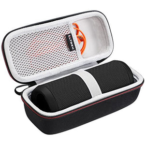 LTGEM Case for JBL Flip 3 or JBL Flip 4 Speaker. Fits USB Cable and Accessories.