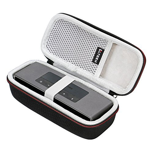 LTGEM Case for Bose Soundlink Mini/Mini 2 Bluetooth Portable Wireless Speaker with Mesh Pocket for Accessories Fits with The Bose Silicone Soft Cover