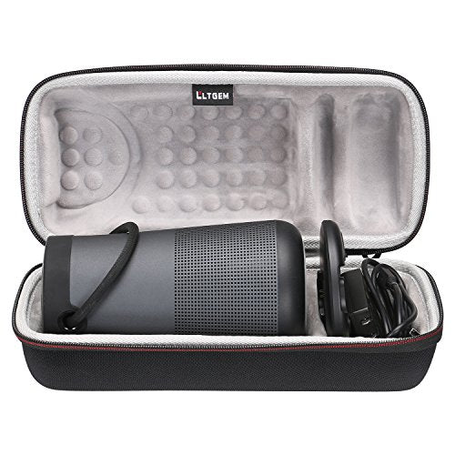 LTGEM Travel Protective Case for Bose SoundLink Revolve+ Portable & Long-Lasting Bluetooth 360 Speaker (Fits Charging Cradle, AC Adaptor and USB Cable