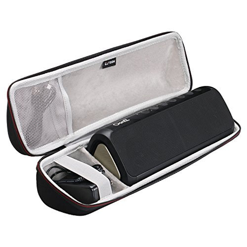LTGEM Case for Cambridge SoundWorks OontZ Angle 3XL or 3XL Ultra Portable Wireless Large Bluetooth Speaker with Mesh Pocket for Cable.