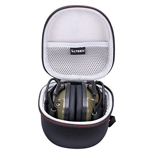 LTGEM for Howard Leight Impact Sport OD and Awesafe GF01 Electric Safety Earmuff Case , Carrying Travel Storage Bag with Mesh Pocket for Accessories