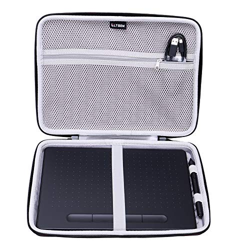 "LTGEM EVA Hard Case Fit for Wacom Intuos Wireless Graphic Medium Tablet, Size 10.4""x 7.8"" (CTL6100)"
