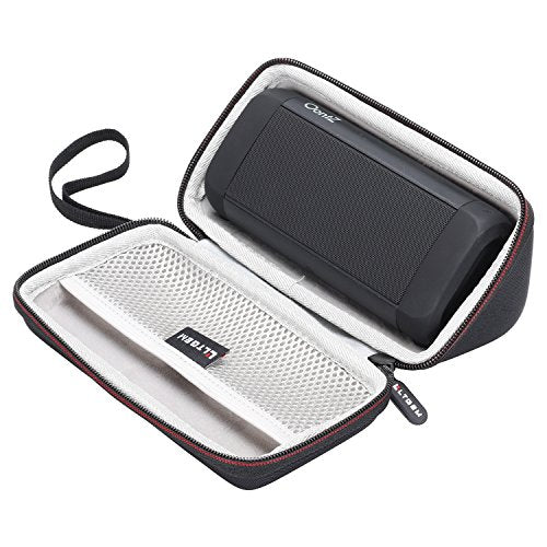 LTGEM Case for OontZ Angle 3 Ultra/Plus Edition Portable Bluetooth Speaker with Mesh Pocket-Black