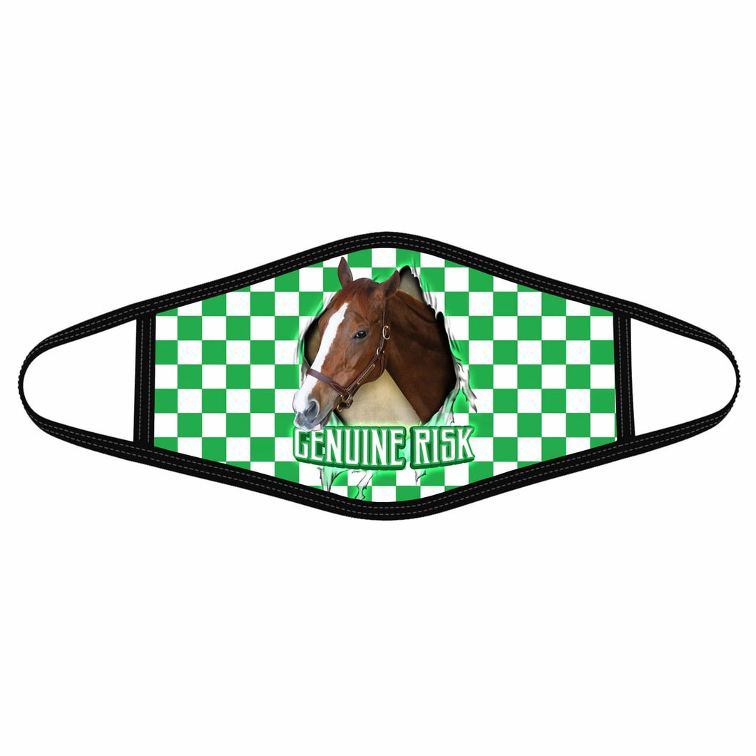 Pemola Genuine Risk Cloth Face Masks, Horse Racing Cloth Face Covers, Horse Face Coverings