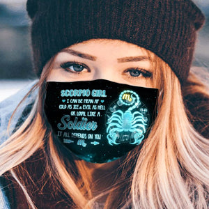 Pemola Scorpio Cloth Face Masks, Horoscope Cloth Face Covers, Zodiac Signs Face Coverings