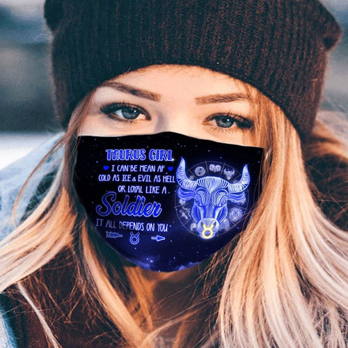 Pemola Taurus Cloth Face Masks, Horoscope Cloth Face Covers, Zodiac Signs Face Coverings