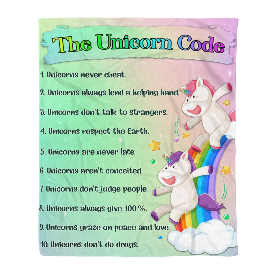 Pemola - Rainbow Unicorn Mother's Day 2020 Blanket, Blanket Gifts For Mom, Happy Mothers Day Fleece Blankets