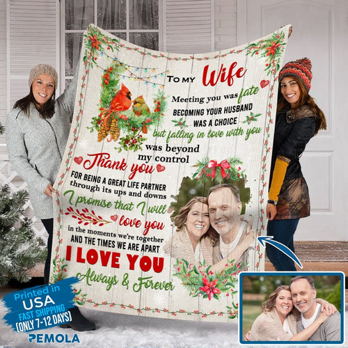 Pemola, gifts for wife, personalized blankets, valentines day gifts, fleece blankets