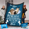 Pemola - Horse custom Fleece Blanket, equestrian blanket for horse lover.