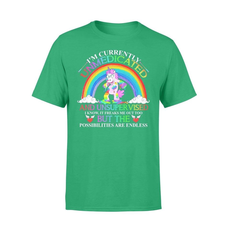 Pemola, I'm currently unmedicated tshirt, unicorn t shirt, unicorn gifts, best friend gifts, funny t shirts, shirts for girl
