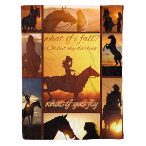 Pemola, Horse Girls Fleece Blanket, Horse quotes blanket, Horse baby blanket for your girls, Horse Blanket Girl