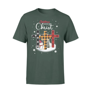 Pemola - Christmas Begins With Christ T-shirt, graphic tees, funny t shirts, cool t shirt, christian t shirts