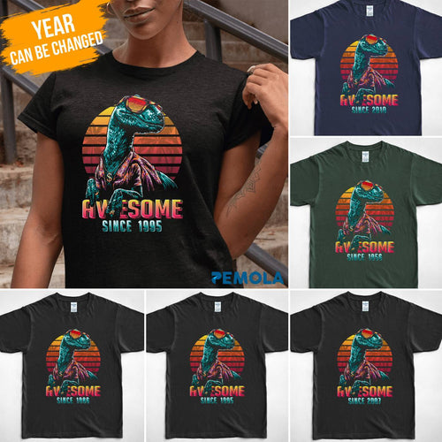 Pemola, dinosaur t shirt, personalized gifts, velociraptor, gifts under $30, custom tee shirts, graphic tees