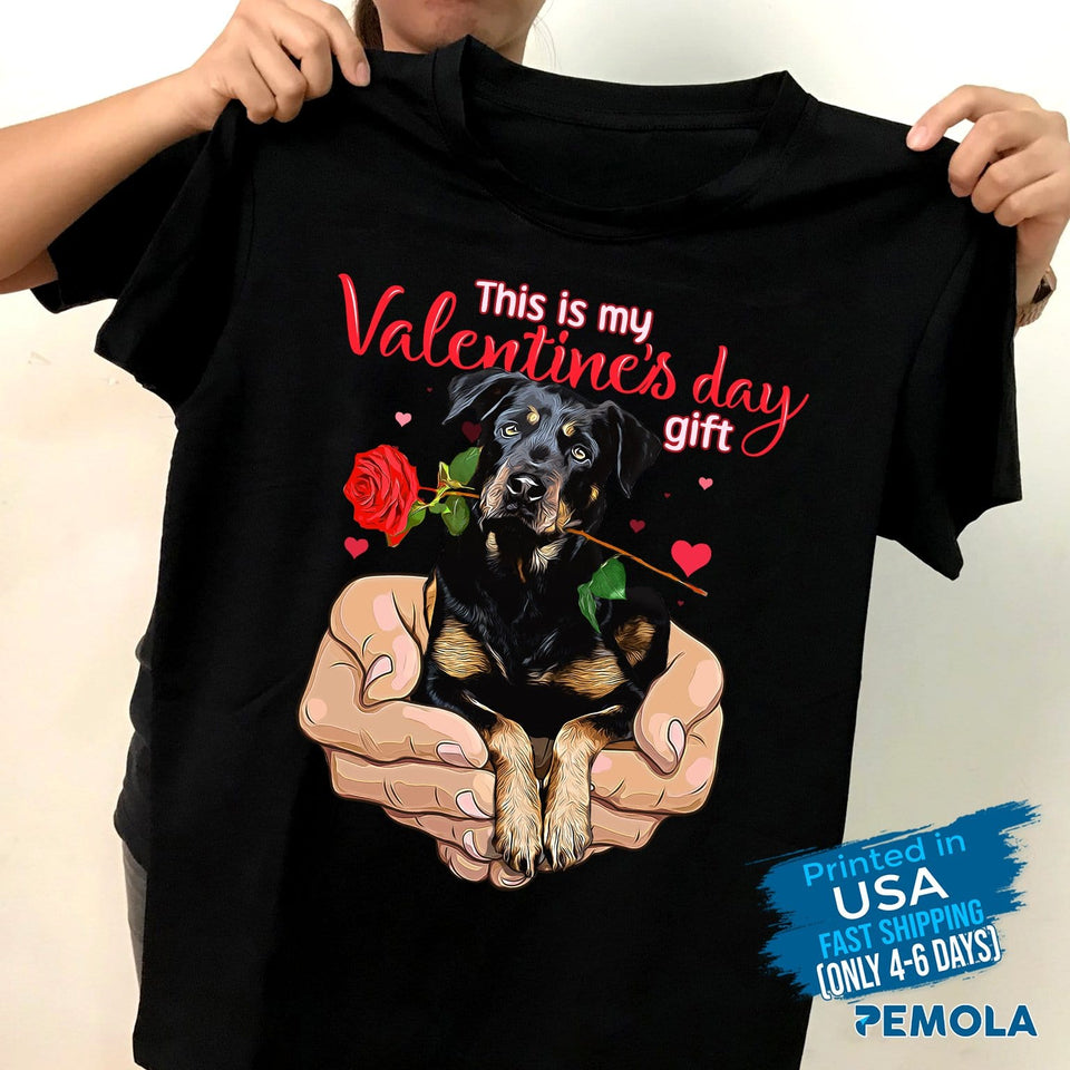 Pemola, Rottweiler Dog Shirt, valentine shirts, valentines day gifts, dog shirts