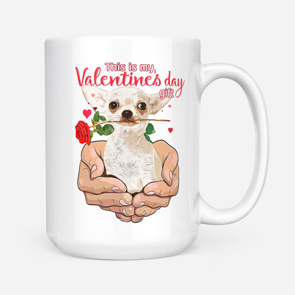 Pemola - Chihuahua Dog Valentines Day Mugs, Valentines Day Gifts For Him, Valentines Day Gifts For Her, Funny Mug for Valentines Day