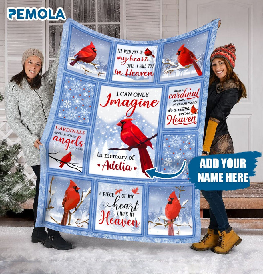 Pemola, I Can Only Imagine Fleece Blanket, Customized gifts, personalized blankets, mothers day gifts, gifts for daughter