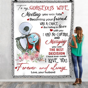 Pemola Gorgeous Wife Fleece Blankets, Wife Blanket, Gorgeous Blanket, Gifts For Her, Gift For Women