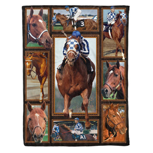 Secretariat Racing horse Fleece Blankets, Racing horse blanket , Secretariat blanket, Racing Secretariat Blanket
