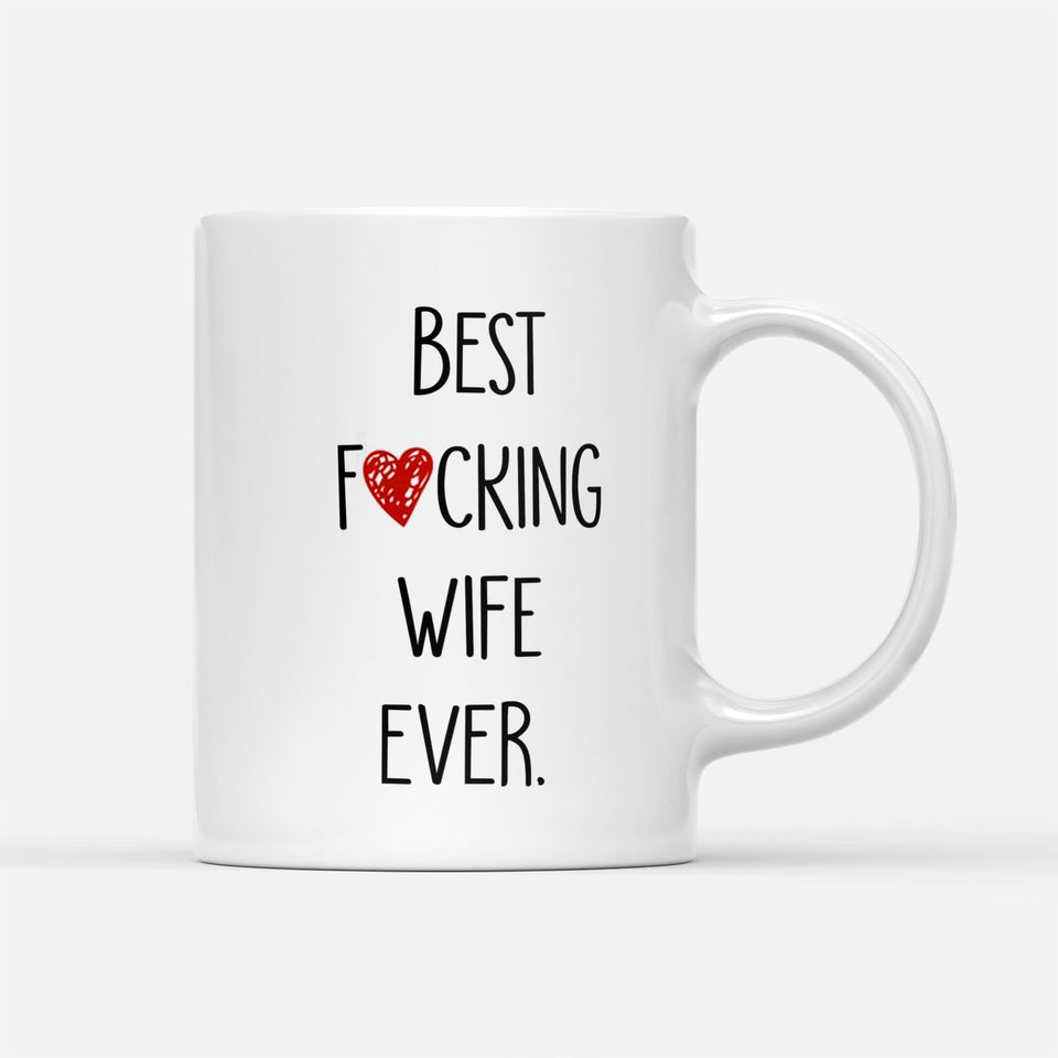 Pemola Best Wife White Mug, Funny Mug For Wife, Gifts For Her