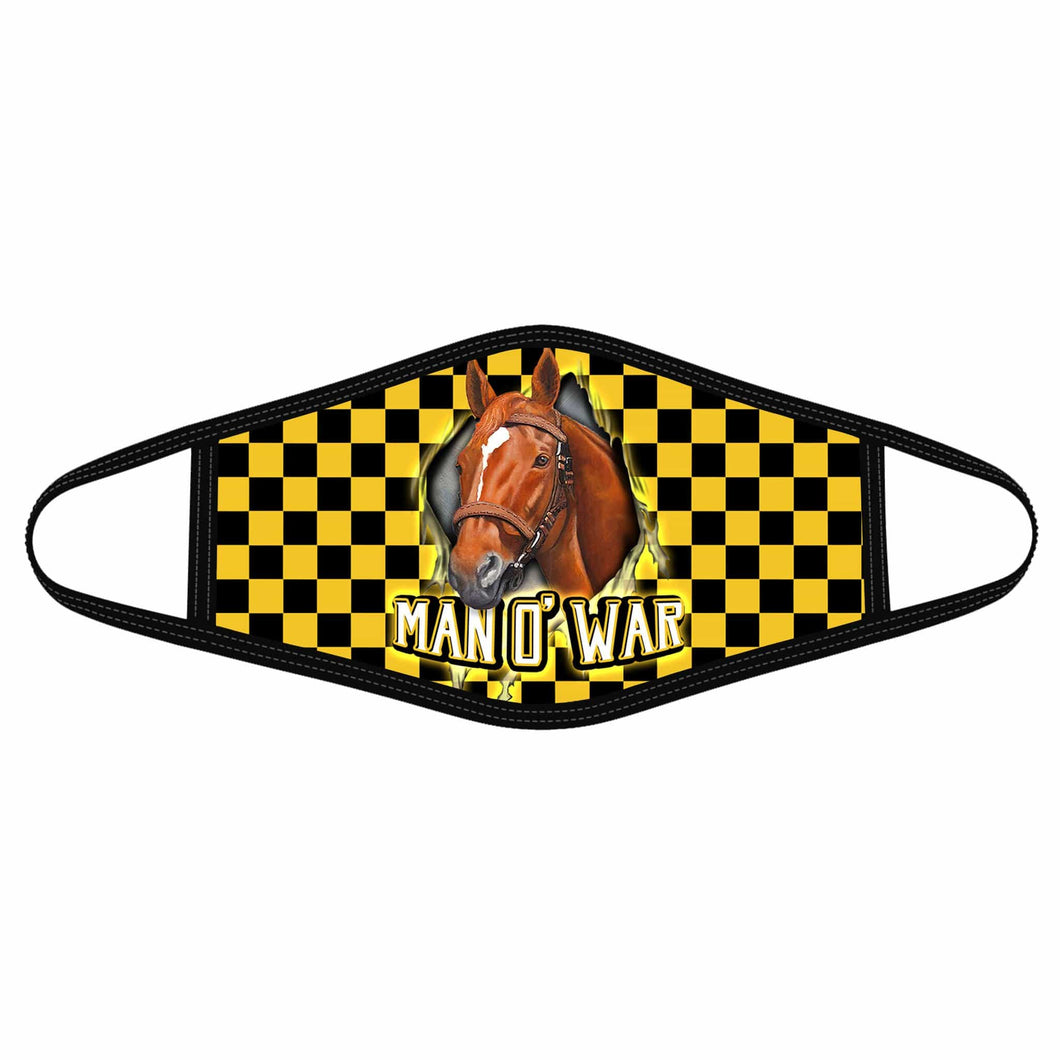 Pemola Man o' War Cloth Face Masks, Horse Racing Cloth Face Covers, Horse Face Coverings