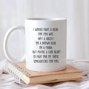 Pemola My Wife Quote Mug, Funny Mug For Wife, Gifts For Her
