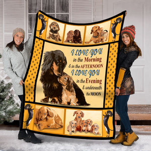 Pemola - Dog Blanket, Dachshund Blanket, Mom And Baby, Baby Gift, Fleece Blanket