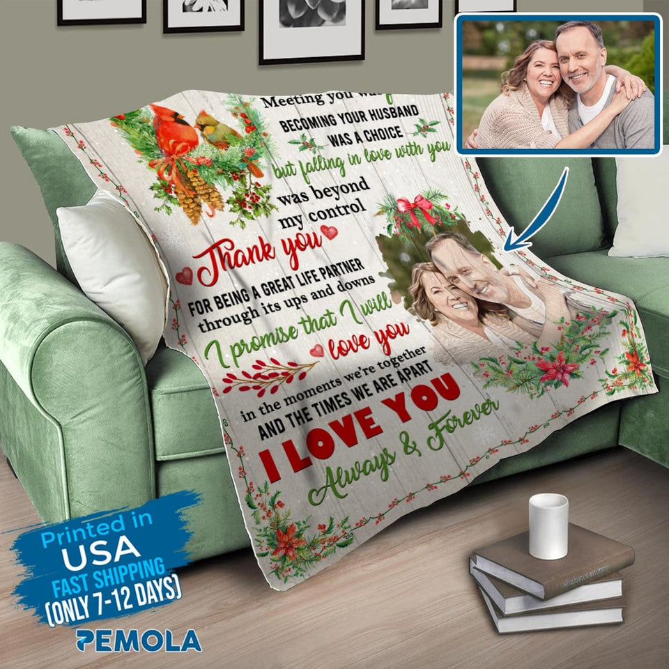 Pemola, gifts for wife, picture blankets, custom blankets, personalized blankets, valentines day gifts, fleece blankets