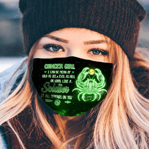 Pemola Cancer Cloth Face Masks, Horoscope Cloth Face Covers, Zodiac Signs Face Coverings
