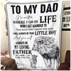 Pemola, Little Son Fleece Blankets, father blanket, son blanket, little boy blanket, gift your son, gift for kids
