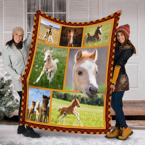 Pemola - Baby horse Fleece Blanket, beautiful horses blanket gift for your mom.
