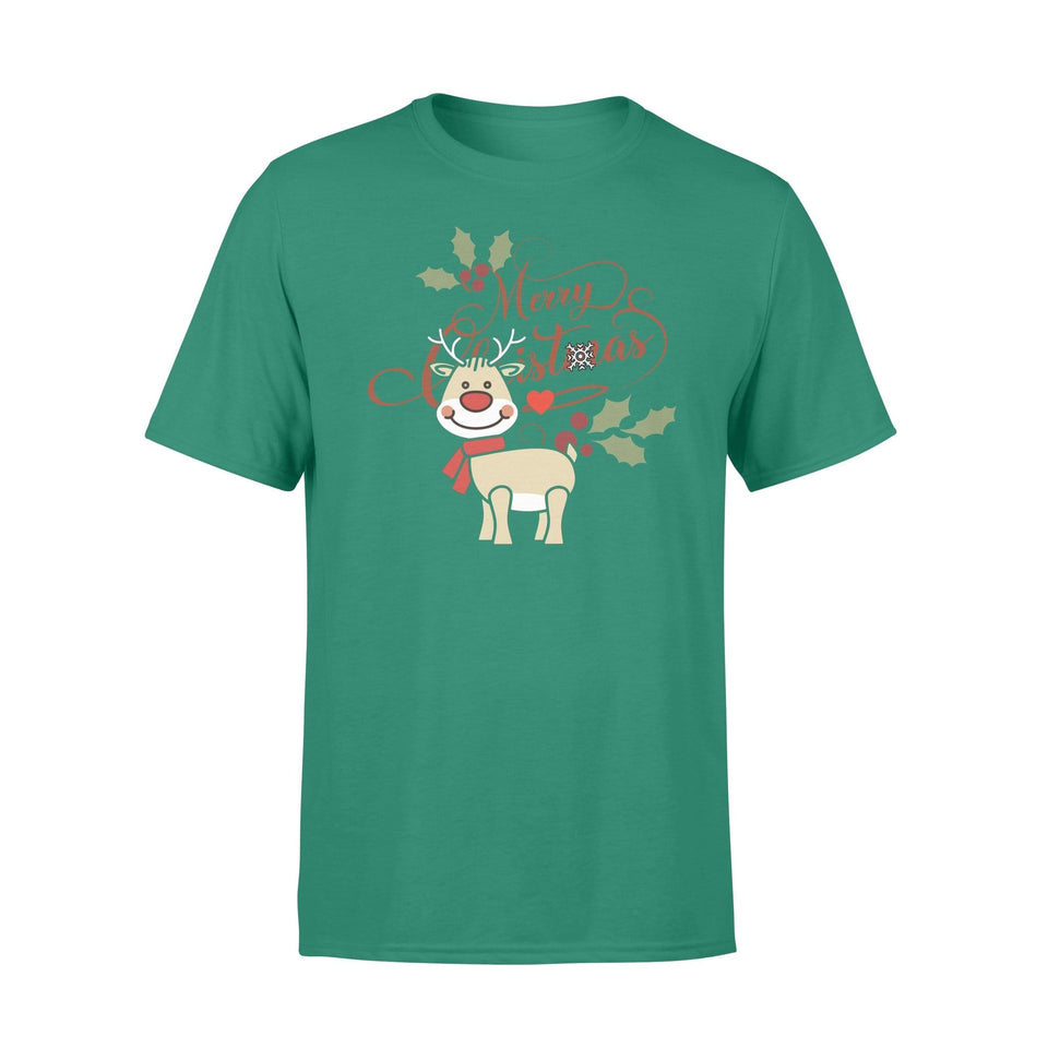 Pemola - Reindeer Christmas T-shirt, graphic tees, funny t shirts, cool t shirt, cute shirts