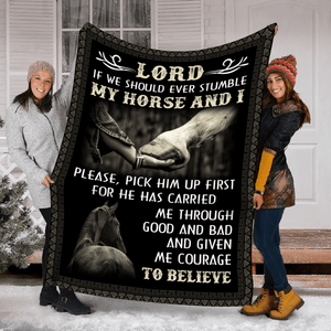 Pemola - Horse quotes Fleece Blanket, Horse love blanket, beautiful horses blanket gift for your family