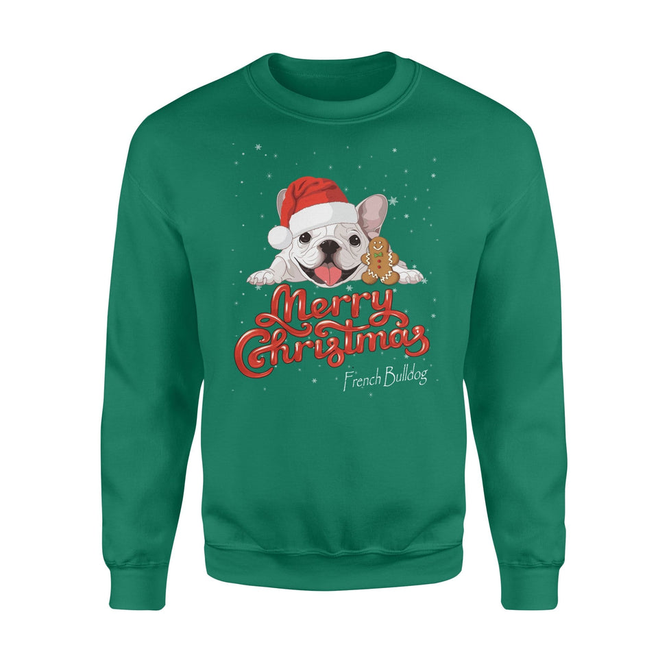 Pemola, French Bulldog Dogs Christmas Sweatshirts, Sweatshirt