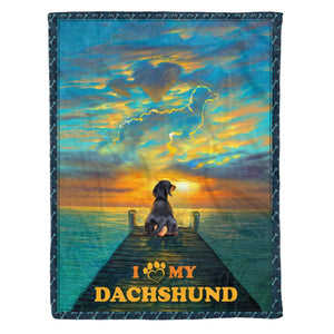 Pemola - Dachshund Dog Blanket, Dachshund Quote, Gift for Mom, Gift for Friends, Fleece Blanket