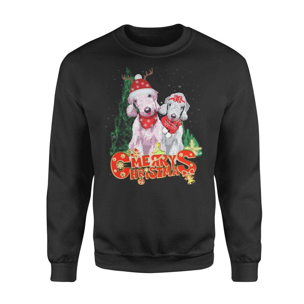 Pemola, Bedlington Terrier Dog Christmas Ugly Sweatshirts, Sweatshirt