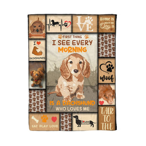 Pemola - Dachshund fleece blankets, gifts for dachshund lovers, gifts for dog lovers, gifts for dog owners