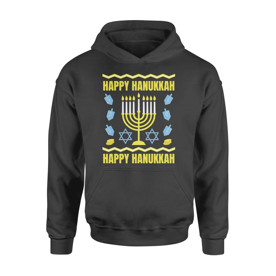 Pemola - Happy Hanukkah Hoodie, hoodies for men, hoodies for women, graphic hoodies