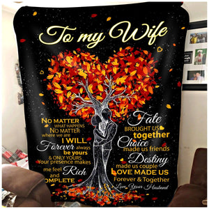 Pemola To My Wife Fleece Blankets, Wife Blanket, birthday gift for wife, gift ideas for women
