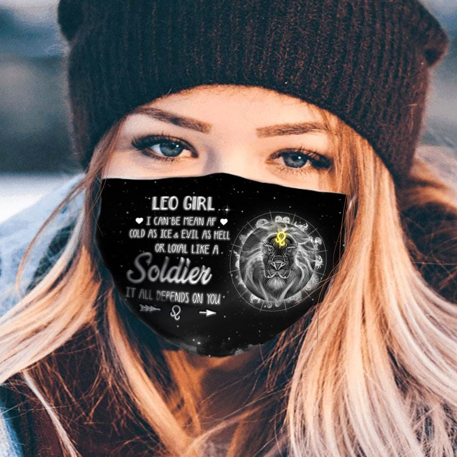Pemola Leo Cloth Face Masks, Horoscope Cloth Face Covers, Zodiac Signs Face Coverings