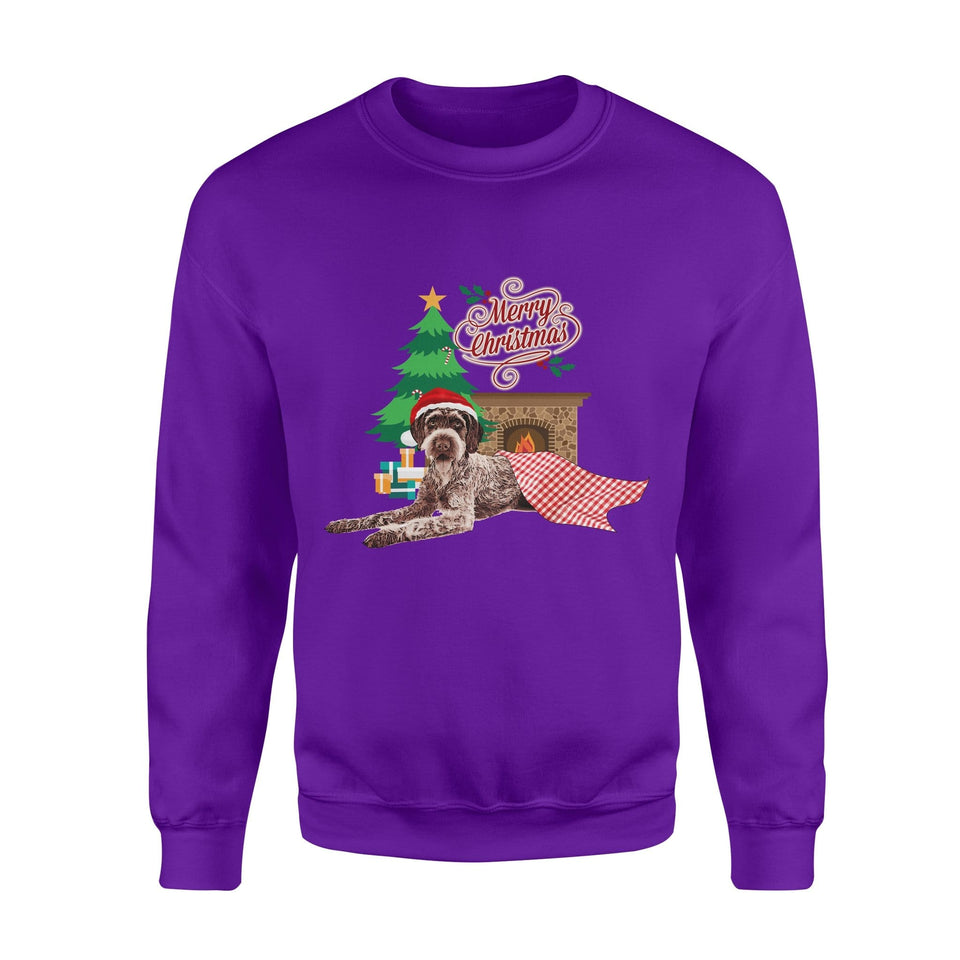 Pemola, German Wirehaired Pointer dogs Christmas Sweatshirts, Sweatshirt