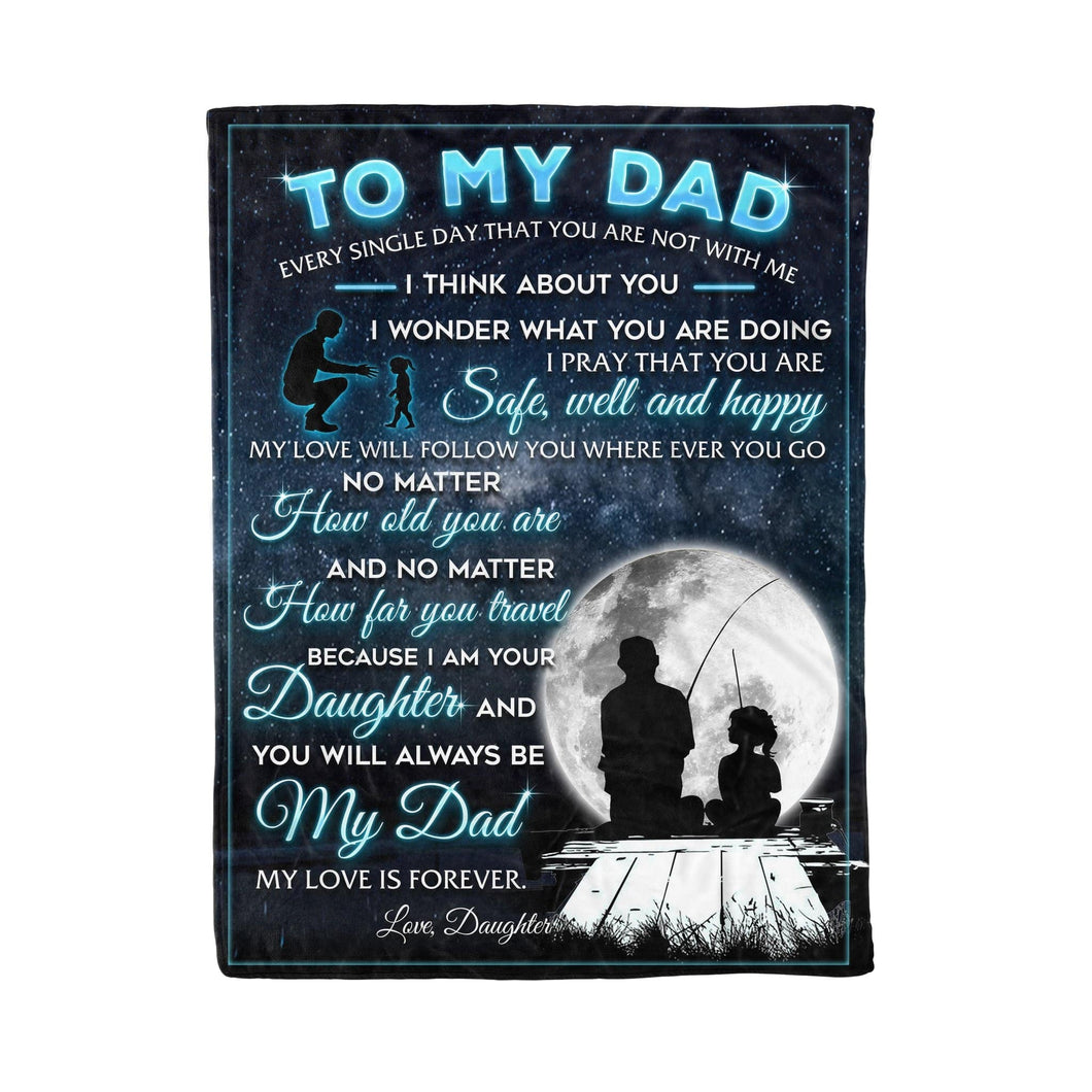 Pemola, Dad and Daughter Fleece Blankets, Father blanket, Daughter blanket, gifts your daughter, gift for kid's birthday blanket