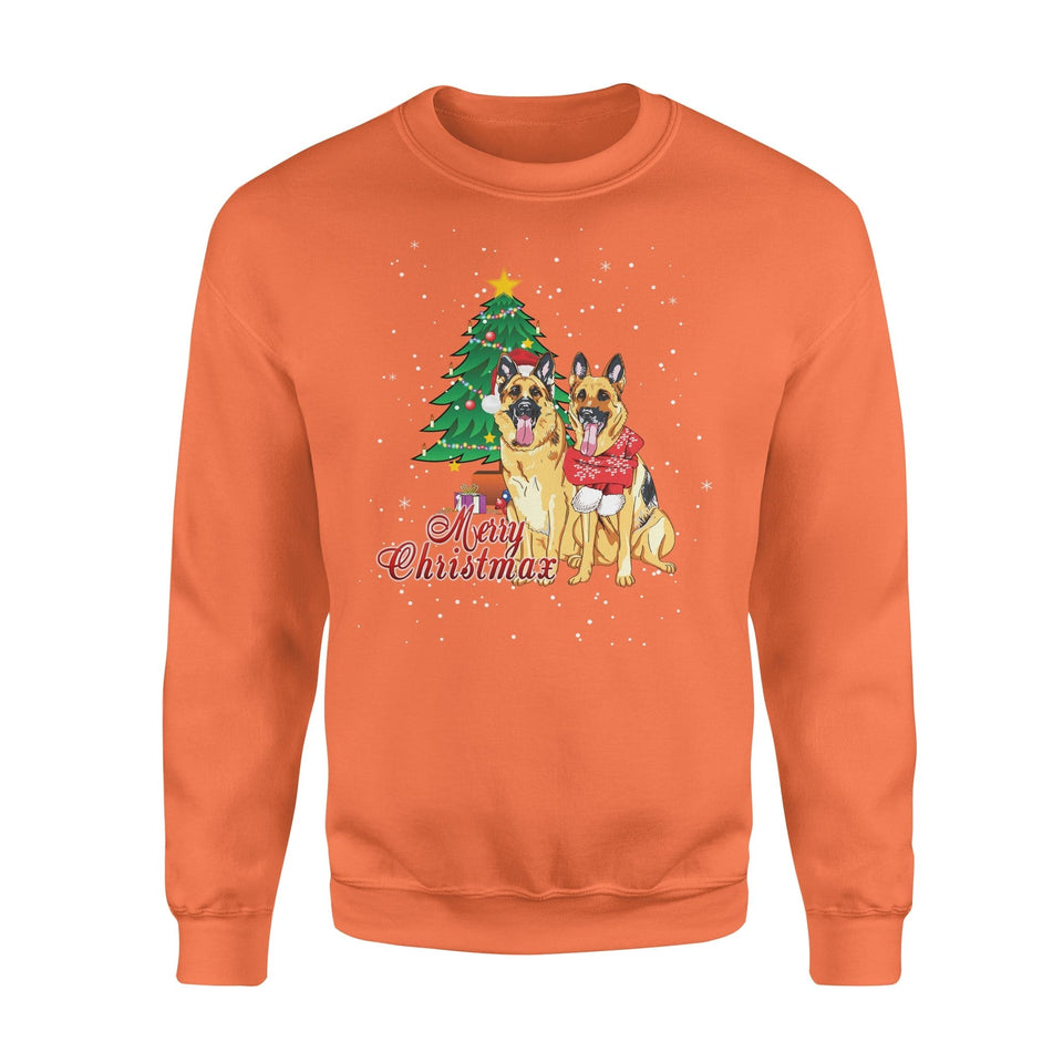 Pemola, German Shepherd Dogs Christmas Sweatshirts, Sweatshirt