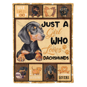 Pemola, gifts for dog lovers, dachshund gifts, best gifts under 50, gifts for girls, dog blanket, fleece blankets