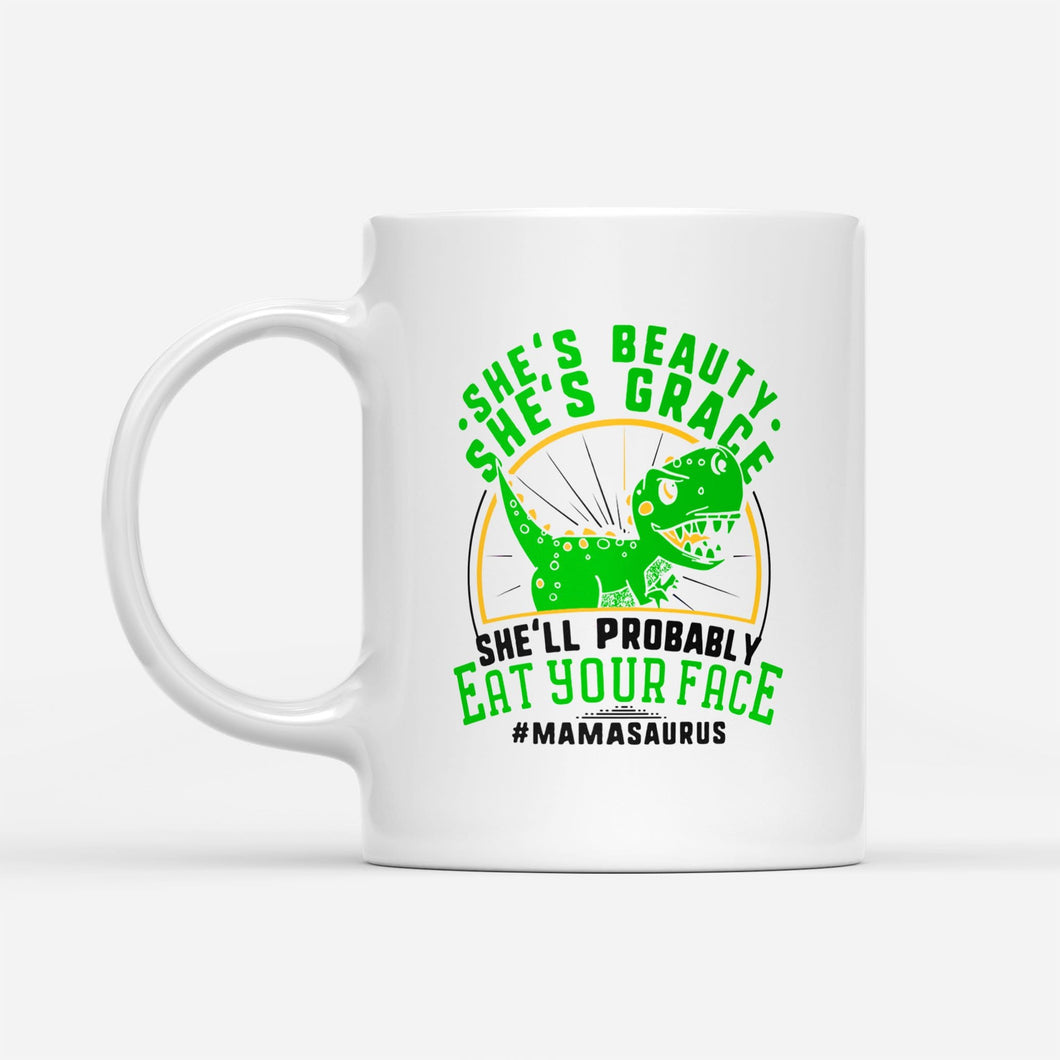 Pemola, Saurus White Mug, Mamasaurus Mug, mothers day gifts, birthday gifts for mom