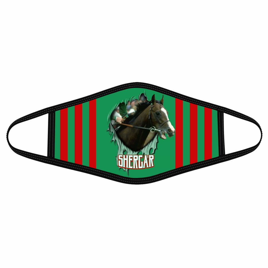 Pemola Shergar Cloth Face Masks, Horse Racing Cloth Face Covers Horse Face Coverings