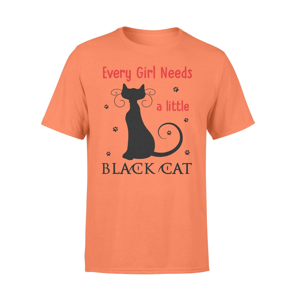 Pemola - Girl Needs Cat T-shirt, graphic tees, funny t shirts, cool t shirt, t shirt for girls