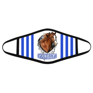 Pemola Shackleford Horse Cloth Face Masks, Horse Racing Cloth Face Covers, Horse Face Coverings