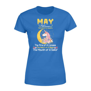 Pemola, May woman T-shirt, Unicorn birthday gifts, may t-shirt, birthday shirts, birthday shirts for her, Unicorn t shirts