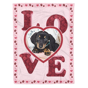 Pemola - Dachshund Dog, Customized Blanket, Dog Blankets, Fleece Blanket